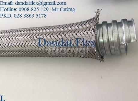 Ống nối mềm sprinkler, ống ruột gà lõi thép bọc inox 304, ống mềm inox (ảnh 5)