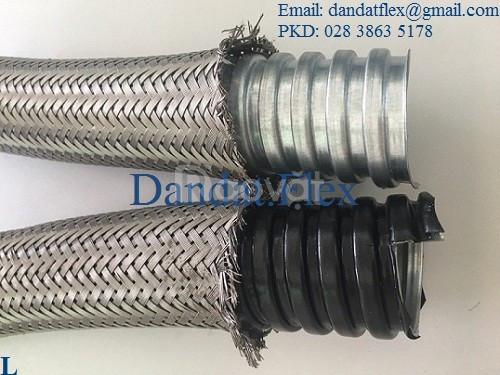 Ống nối mềm sprinkler, ống ruột gà lõi thép bọc inox 304, ống mềm inox (ảnh 3)