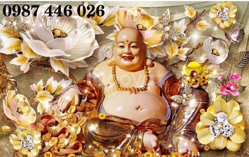 Tranh gạch thần tài vàng 3d (ảnh 1)