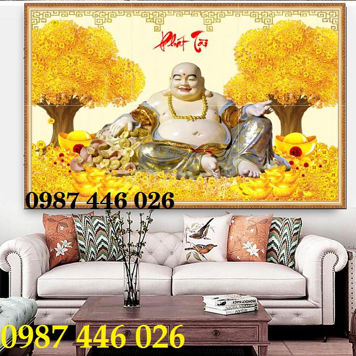 Tranh gạch thần tài vàng 3d (ảnh 2)