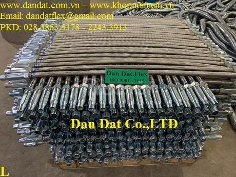Ống nối mềm sprinkler, ống ruột gà lõi thép bọc inox 304, ống mềm inox (ảnh 7)