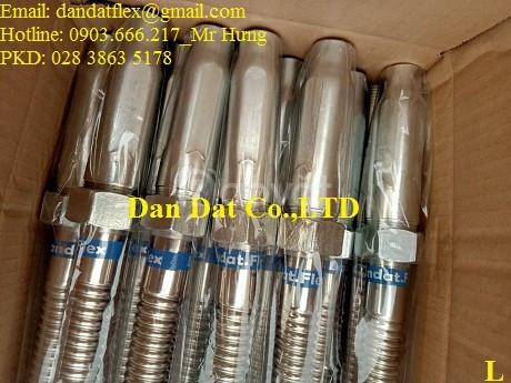 Ống nối mềm sprinkler, ống ruột gà lõi thép bọc inox 304, ống mềm inox (ảnh 6)