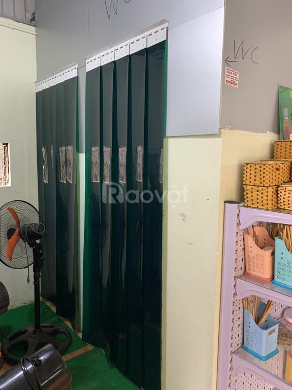 Thanh lý bộ rèm nhựa PVC ngăn lạnh màu xanh đen