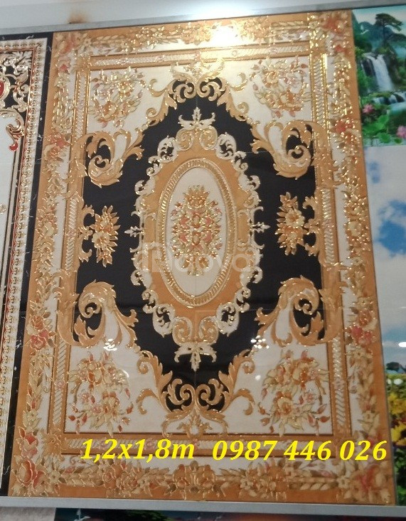 Thảm gạch, gạch trang trí phòng khách HP0841GT