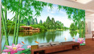Tranh gạch men phong cảnh phòng khách HP774P (ảnh 3)