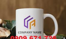 Nhận in logo lên ly sứ nhanh lấy liền giá rẻ