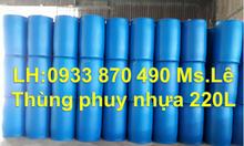 Thùng phuy nhựa 30 lít đựng thực phẩm, thùng phuy sắt 220l đựng xăng