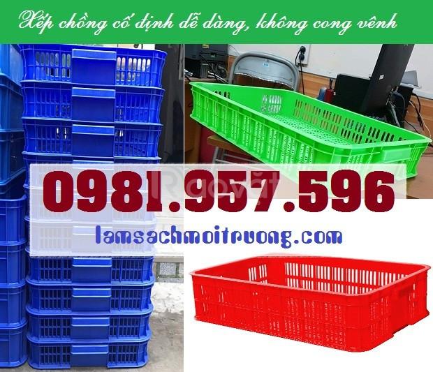 Sọt nhựa công nghiệp 1T, sóng nhựa 1T trong siêu thị (ảnh 5)
