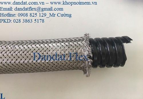 Ống nối mềm sprinkler, ống ruột gà lõi thép bọc inox 304, ống mềm inox (ảnh 1)