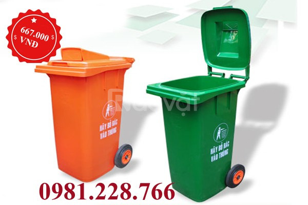 Báo giá thùng rác 240L chuẩn nhất tại Hà Nội