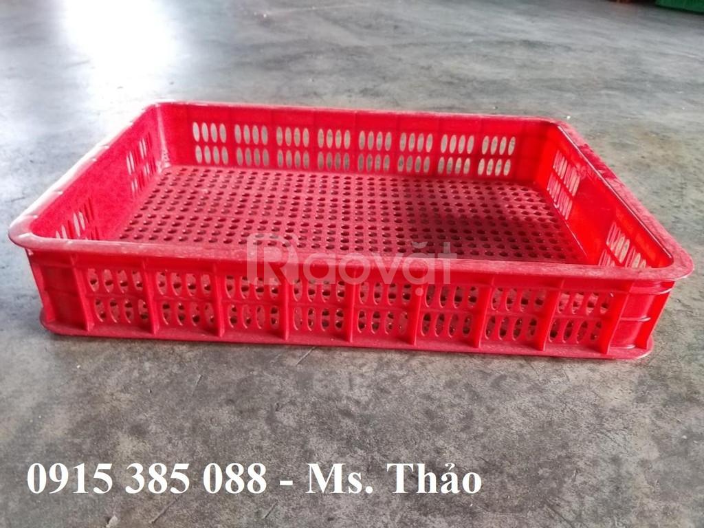 Sọt nhựa hở cao 1 tấc đựng thực phẩm sản xuất tại Việt Nhật (ảnh 1)