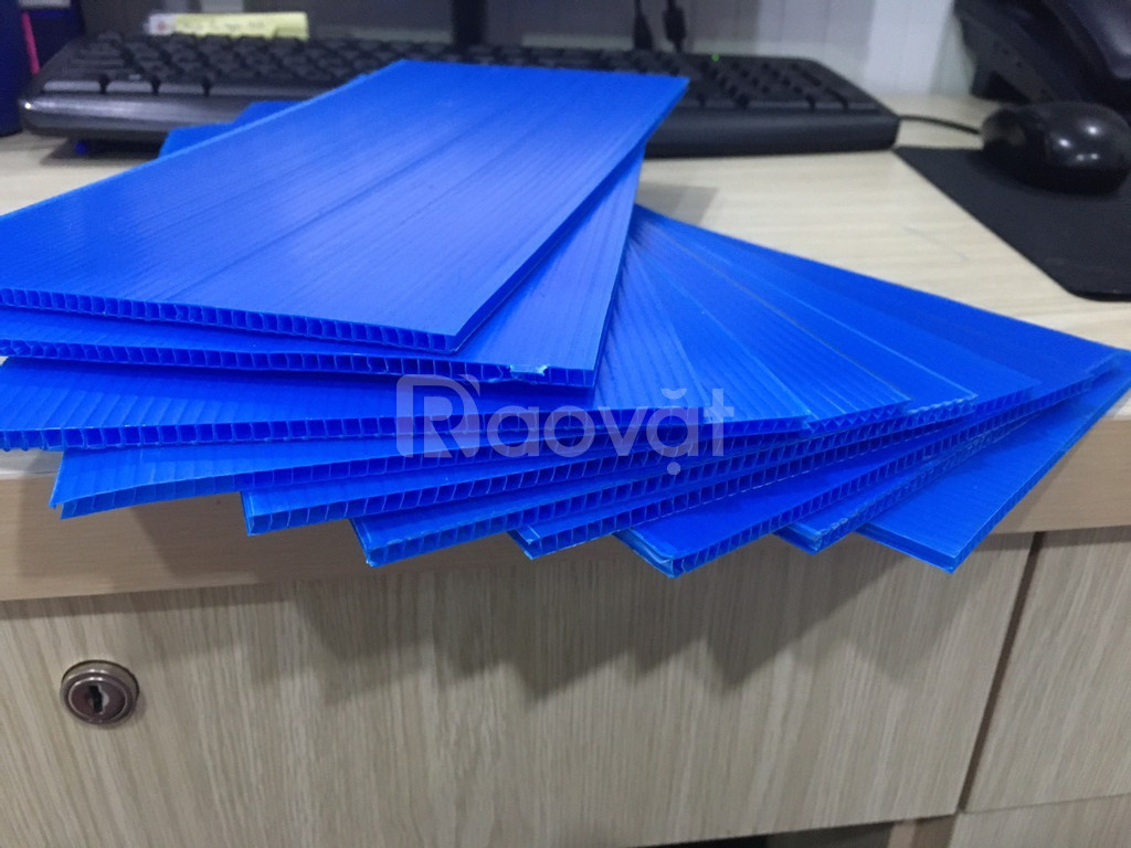 Tấm carton xanh 4mm, tấm nhựa pp 4mm