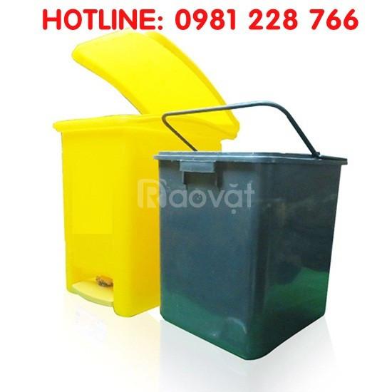 Mua thùng nhựa đựng rác 20L dành cho gia đình giá rẻ ở đâu?
