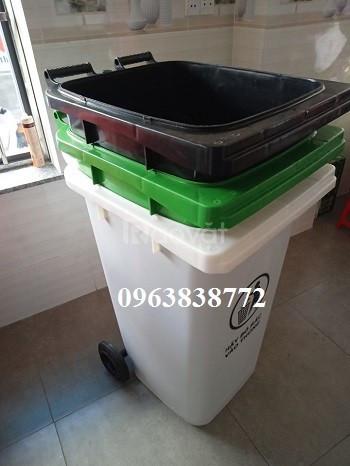Thùng rác 240 lít - thùng đựng rác 240 lít nhựa hdpe  (ảnh 4)