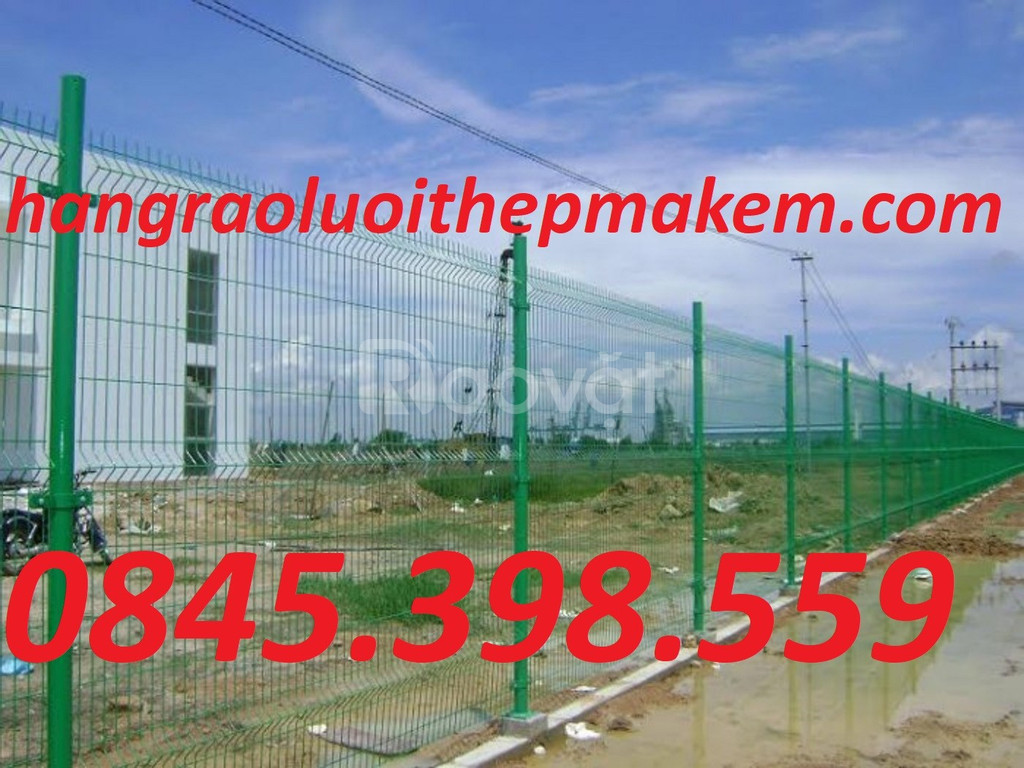 Hàng rào mạ kẽm, hàng rào uốn sóng trên thân có săn