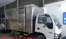 isuzu 1.5 tấn thùng kín dài 3.6m, KM 50% thuế trc bạ, máy lanh...
