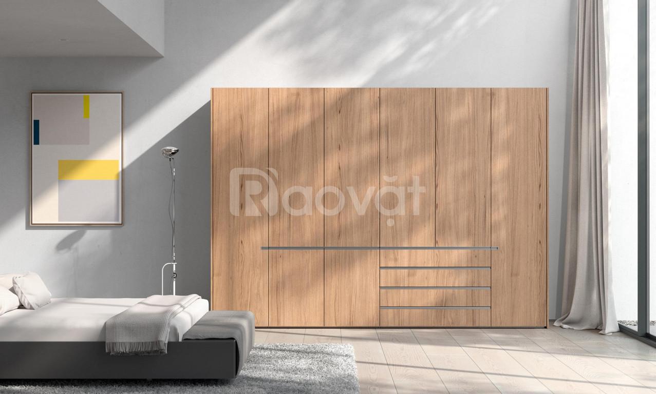 Thi công tủ áo gỗ công nghiệp - mẫu tủ quần áo đẹp 2020