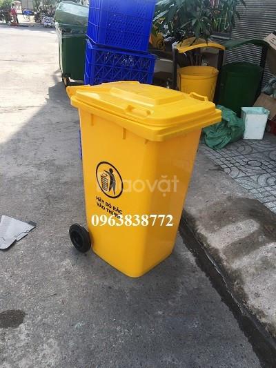 Thùng rác 240 lít - thùng đựng rác 240 lít nhựa hdpe  (ảnh 1)