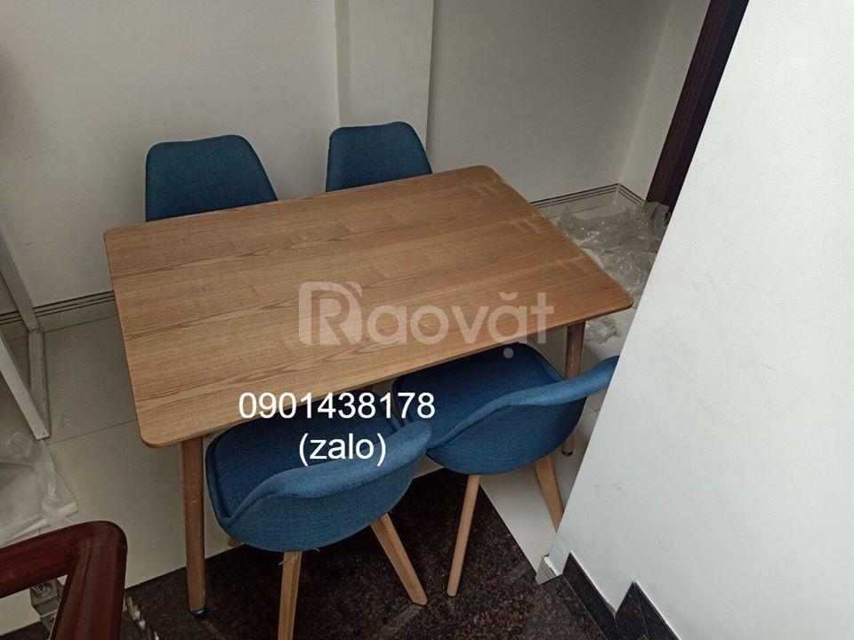 Combo bộ bàn ghế ăn gia đình, Bàn ghế decor phòng trọ, căn hộ cho thuê
