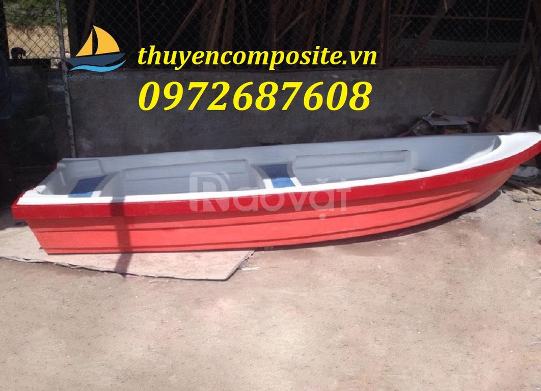 Thuyền composite, cano composite chèo tay cho 2 -4 người
