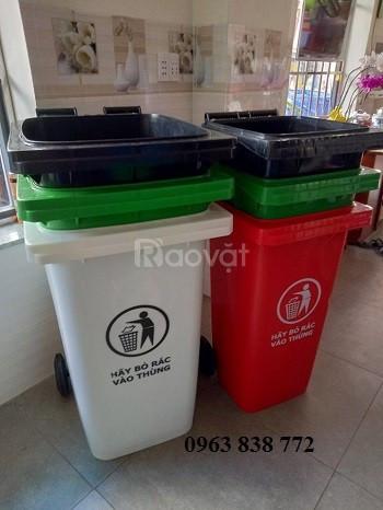 Thùng rác 240 lít - thùng đựng rác 240 lít nhựa hdpe  (ảnh 5)