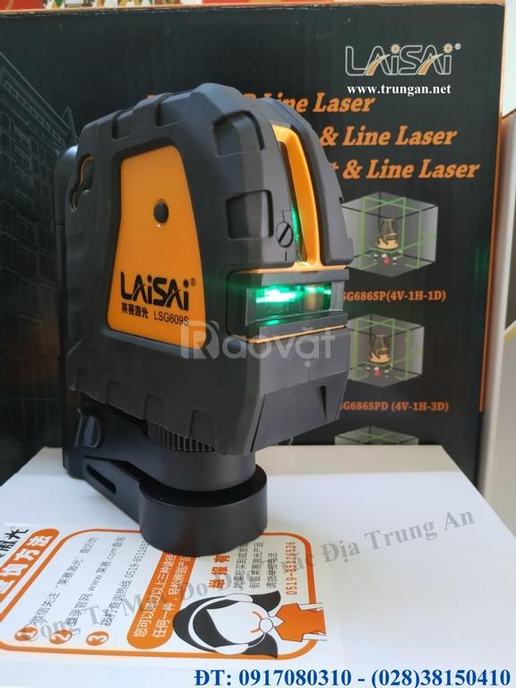 Máy cân bằng laser treo tường 2 tia xanh Laisai Lsg609s