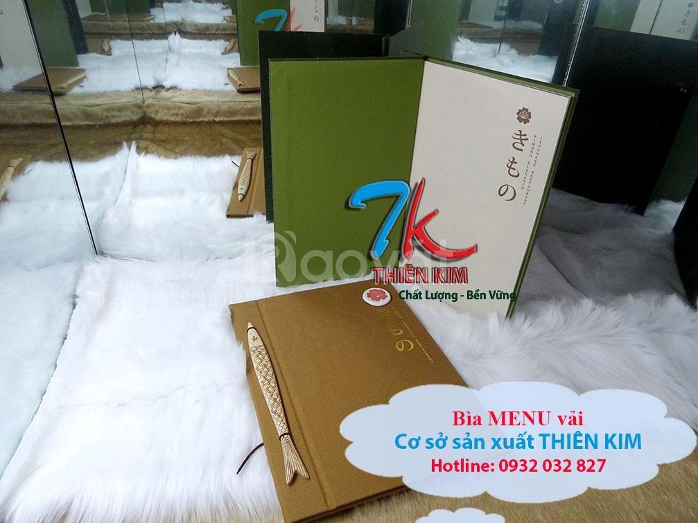 Xưởng sản xuất bìa menu, làm bìa menu nhà hàng, cuốn menu quán ăn