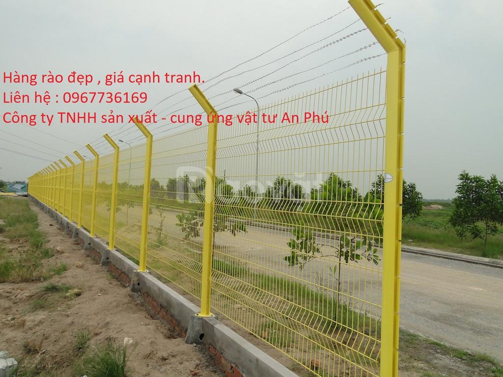 Hàng rào thép, hàng rào lưới hàn, hàng rào khu công nghiệp  (ảnh 4)