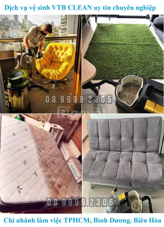 Làm sạch ghế sofa salon vải nỉ nhung bố... tại nhà ở Dĩ An, Thuận An