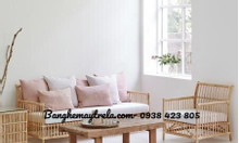 Băng ghế sofa mây cây thẳng