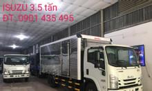 isuzu 3.5 tấn, thùng kín 5.2m, KM 50% thuế trc bạ, máy lạnh...