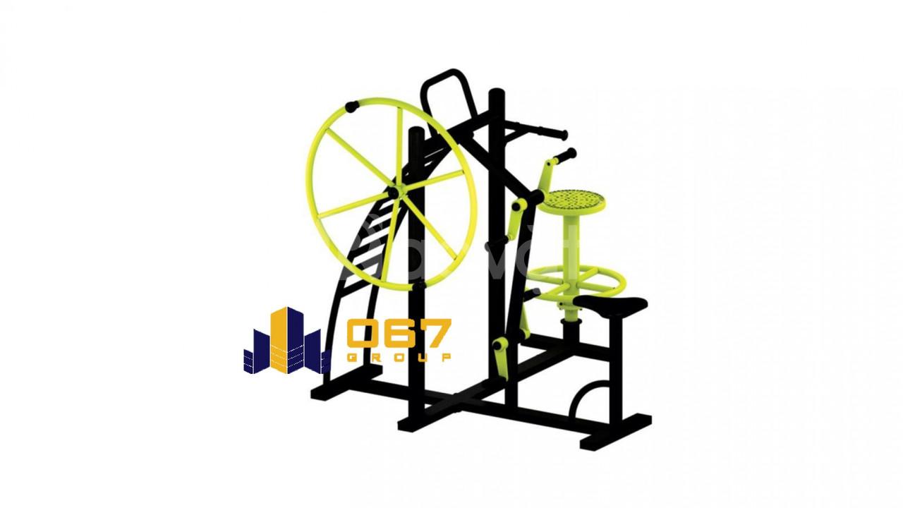 Gym Back Trainer, Arm Wheel, Hip Twister & Bicycle Thiết bị thể dục (ảnh 3)