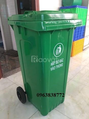 Thùng rác 120 lít nhựa hdpe - composite (ảnh 1)