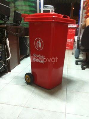 Thùng rác 120 lít nhựa hdpe - composite (ảnh 4)