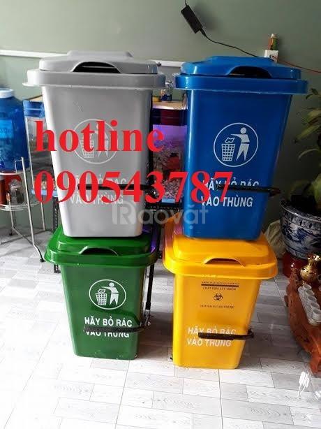 Thùng rác 60 lit chất lượng giá rẻ ,thùng rác công cộng