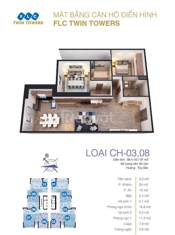 Cho thuê căn hộ C8 – Bamboo Airways FLC 265 Cầu Giấy