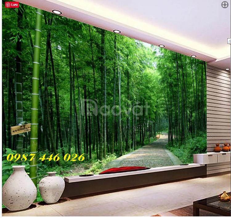 Tranh gạch men rừng cây- tranh ốp tường 3d