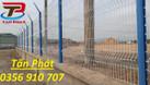 Hàng rào lưới thép, hàng rào mạ kẽm, hàng rào kho dạng chắn sóng (ảnh 5)