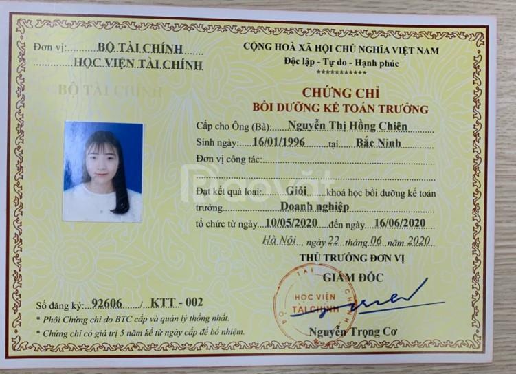 Đào tạo chứng chỉ kế toán trưởng tại Hà Nội (ảnh 1)