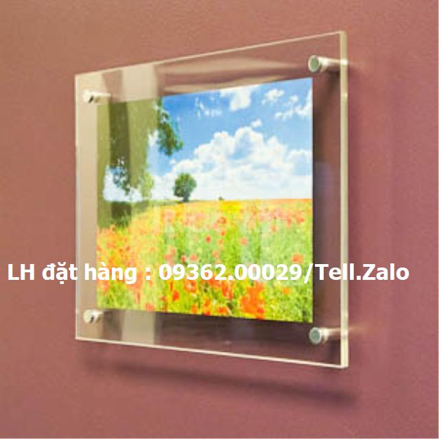 Khung treo tranh ảnh-Poster treo tường chất liệu mica