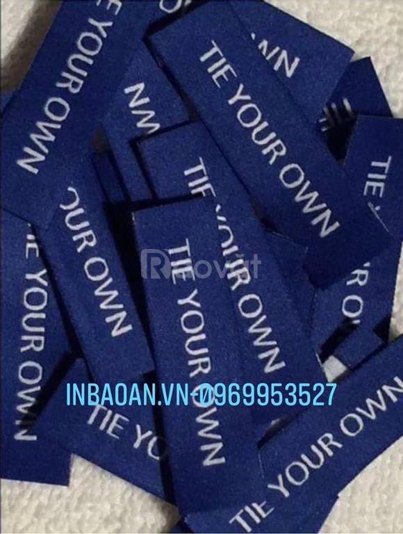 Địa chỉ in mác quần áo, in mác vải giá rẻ theo yêu cầu tại Hà Nội.