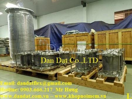 Khớp nối mềm chống rung inox, ống mềm inox công nghiệp, giảm chấn (ảnh 3)