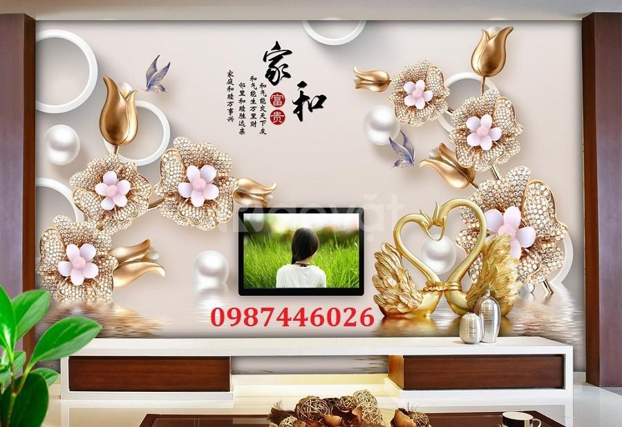 Tranh gạch 3d hoa dán tường HP917