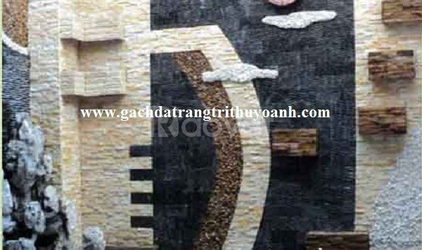 Đá răng lược đen ốp lát trang trí quán cafe