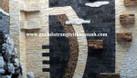 Đá răng lược đen ốp lát trang trí quán cafe (ảnh 1)