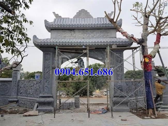 Cổng nhà thờ họ đẹp, Xây mẫu cổng tam quan nhà thờ họ bằng đá đẹp (ảnh 8)