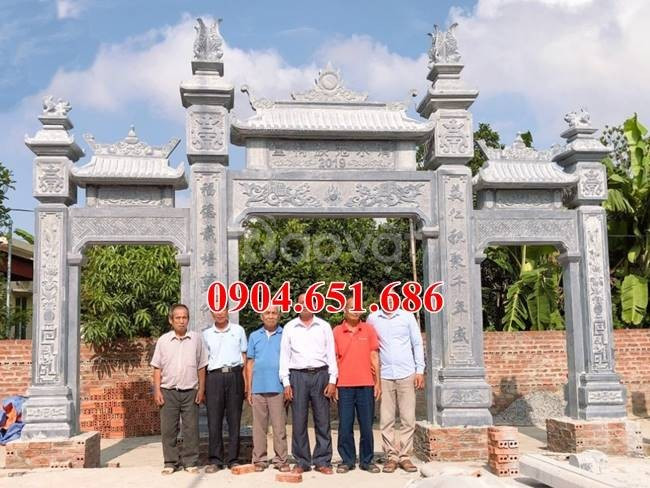 Cổng nhà thờ họ đẹp, Xây mẫu cổng tam quan nhà thờ họ bằng đá đẹp (ảnh 6)