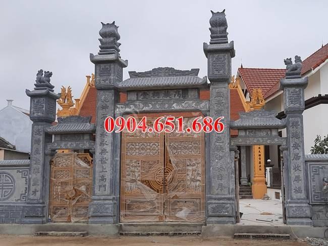 Cổng nhà thờ họ đẹp, Xây mẫu cổng tam quan nhà thờ họ bằng đá đẹp (ảnh 4)