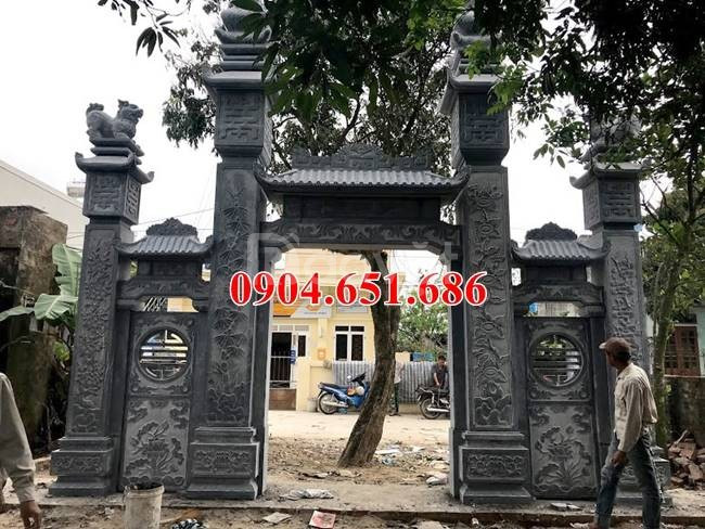 Cổng nhà thờ họ đẹp, Xây mẫu cổng tam quan nhà thờ họ bằng đá đẹp (ảnh 5)