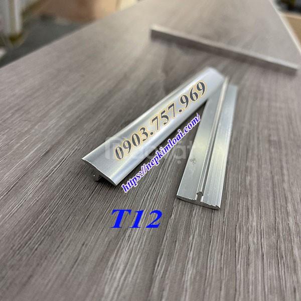 Nẹp chữ t, nẹp nhôm t12, nẹp t12 nhôm, nẹp t12 inox